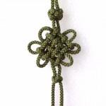 クローバー「アジアン結美」玉房結びカードを使って飾りの途中で玉房結びを作る方法